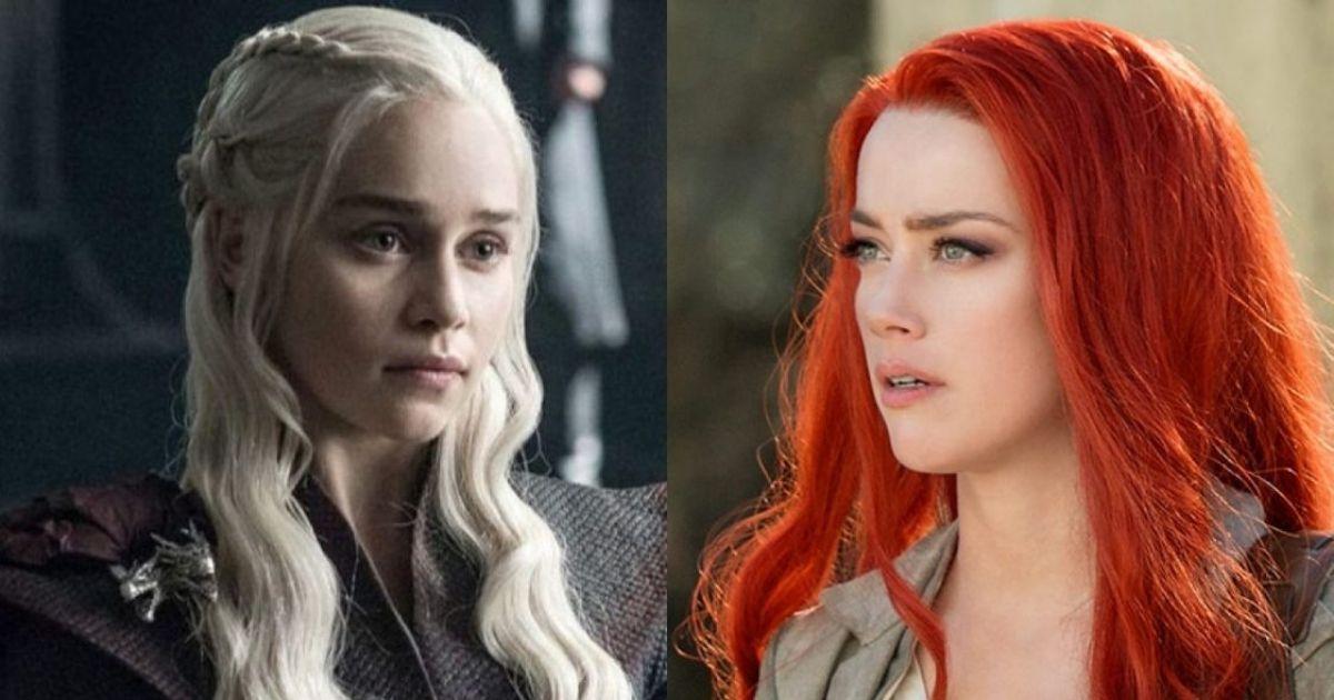 Emilia Clarke y Amber Heard